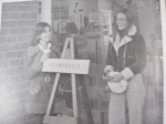 Susan Dickerson and Barbara Ramey ringing the bell for the Salvation Army.  Keywanetts 1976-1977