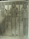 Brenda Foley, Beth Lancaster and Anne Grossnickle - Journalism students behind bars.  1976-1977