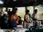 Debbie Moore, Margie Snell and Rita Ross at the family picnic.