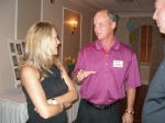 Mark Conway explaining to his wife, Lisa, how crazy our class really is!