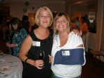 Susan Dickerson (Phillips) and Wendy Phillips (Little).  Wendy recently injured in an automobile wreck, but didn't want